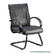 Conference Chairs, Genuine Black Leather Guest Conference Chair