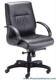 Conference Chairs, Genuine Leather Mid Back Conference Chai