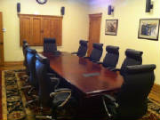 12 Foot Boat Shaped Conference Table and Chairs Set from Illinois Customer