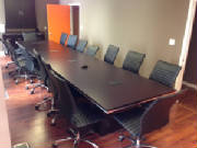 Laminate Modern Conference Table with Chairs Set Michigan Customer
