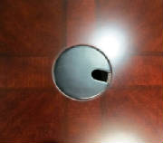 Conference Table Grommet Hole Cover in Black