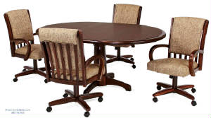 Dining-Chairs-On-Casters-Wheels/caster_wheel_dining_chairs_table_set_1.jpg