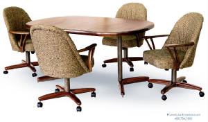 Dining-Chairs-On-Casters-Wheels/swivel_tilt_caster_dining_chair_table_set_2.jpg