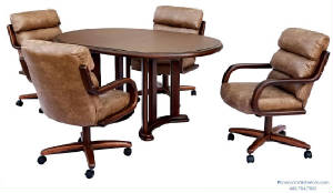 Dining-Chairs-On-Casters-Wheels/swivel_tilt_caster_dining_chair_table_set_4.jpg