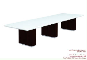 White Conference Tables With Grommets - Frosted glass conference room table